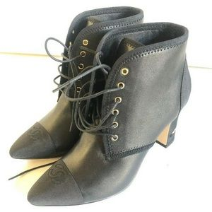 Chanel black booties size 38